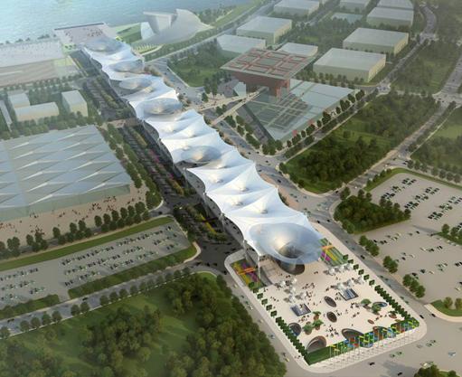 上海世博轴膜结构工程