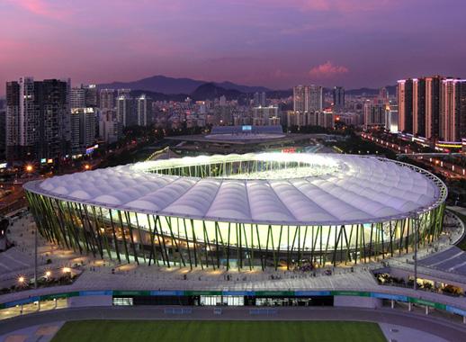 深圳大运会保安体育场膜结构工程